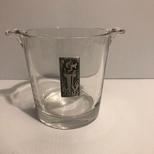 2001 EMPIRE STATE GAMES GLASS  ICE BUCKET
